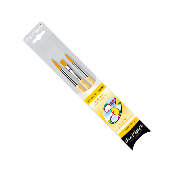 Da Vinci Junior Synthetic School Painting Brush Round Size 1